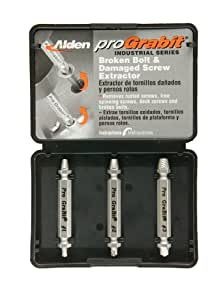 Alden 8430P Pro Grabit Broken Bolt and Damaged Screw Extractor 3 Piece Kit
