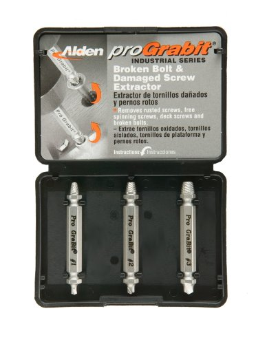 Alden 8430P Pro Grabit Broken Bolt and Damaged Screw Extractor 3 Piece Kit image
