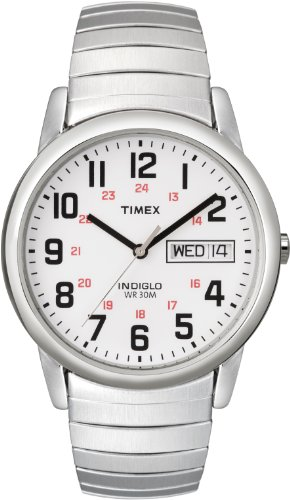 Timex Men's T20461 Easy Reader Silver-Tone Expansion Band Watch