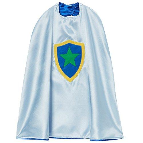 Blue & Gray Star Shield Reversible Cape