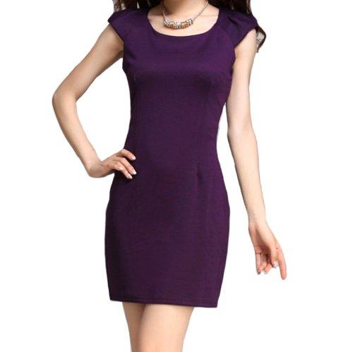 Pandella Women'S Cap Sleeve Sheath Dress - 5 Colors (Xs, Purple)