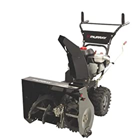 Murray 1695539 24-Inch 205cc 4-Cycle OHV Briggs & Stratton 800 Snow Series Gas Powered Self Propelled Two-Stage Snow Thrower With Electric Start