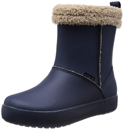 Crocs Origami Snug Boot Gs - Stivale da bambine e ragazze/bambini e ragazzi, Blu (Navy/Tumbleweed), 34-35