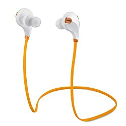 Mpow Swift Bluetooth 4.0 Wireless Sport Headphones Sweatproof Running Gym Exercise Bluetooth Headsets with Microphone for iPhone 6s 6s plus 6 6 plus Galaxy S6 and more (Orange)