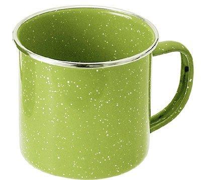 GSI Emaille Tasse grün (Größe: 355 ml)