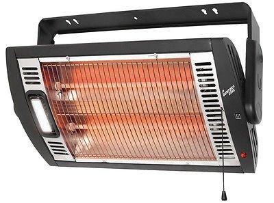 Comfort Zone 760 Watt Ceiling Mounted Electric Fan Wall Insert Heater with Light