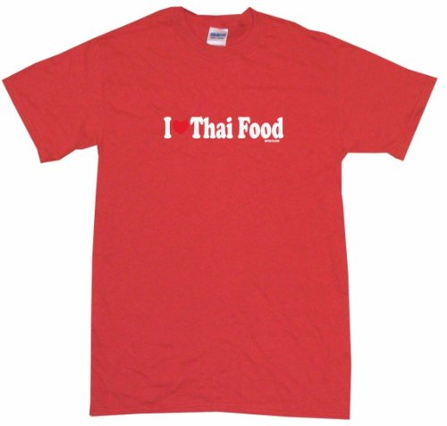 I Heart Love Thai Food Kids Tee Shirt 5/6T-Red