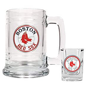 MLB Boston Red Sox Boilermaker Set (Primary Logo) by Great American Products