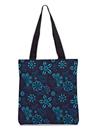 Snoogg Colorful Floral Seamless Pattern In Cartoon Style Seamless Pattern Designer Poly Canvas Tote Bag - B012FUH5O6