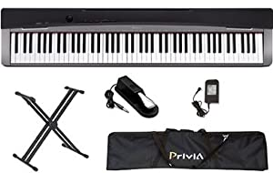 Casio PX130 Digital Piano Keyboard BUNDLE including Stand, Sustain Pedal, and Case