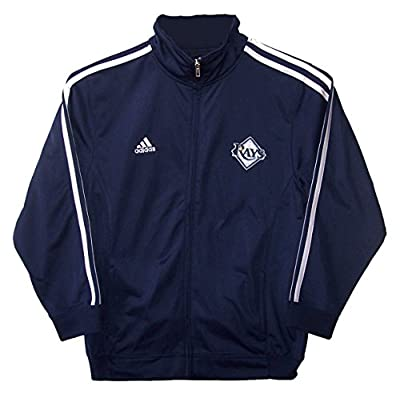 Tampa Bay Rays Youth Size Large (14/16) Full Zip Performance Track Jacket - Navy Blue