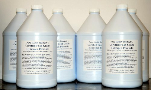 6 Gallons of 35% Food Grade Hydrogen Peroxide. Same as found in The One Minute Cure. Shipped super fast. This is a GREAT price for the REAL thing! Only $25 per gallon. WOW (& we can private label at no add'l charge for you) (35 Is compare prices)