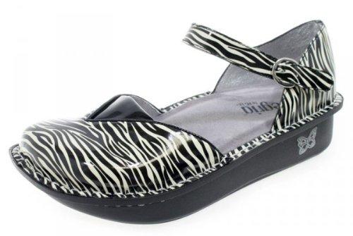Alegria Madrid Mini Zebra Sandal - Mini Zebra Patent - 40 M EU