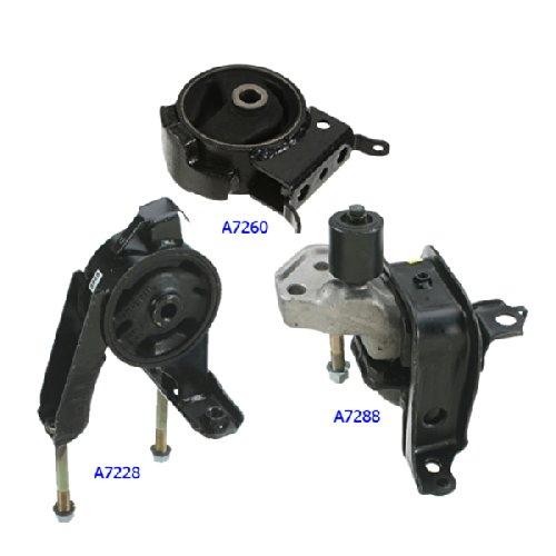 00-05 Toyota Echo 1.5L Engine Motor & Trans Mount Kit 3PCS. A7288 A7228 A7260. 00 01 02 03 04 05.