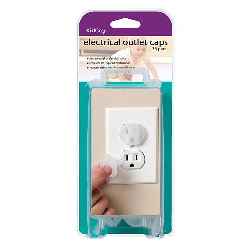 Kidco Ele Ctrical Outlet Caps - 36 Ct