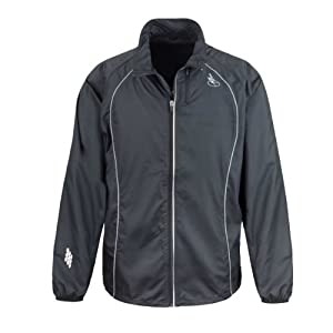 "Time To Run Men's Windproof Running Jacket Large 42""-44"" Black"