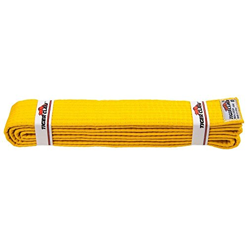 Tiger Claw Solid Color Martial Arts Belt - Yellow - Size 6 (Tiger Claw Belt compare prices)