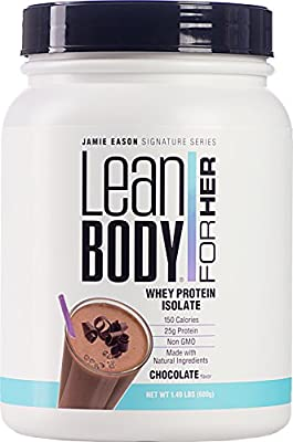 Labrada Nutrition Jamie Eason Lean Body for Her Whey Isolate Protein Powder, Chocolate Shake, 24 Ounce(680g)