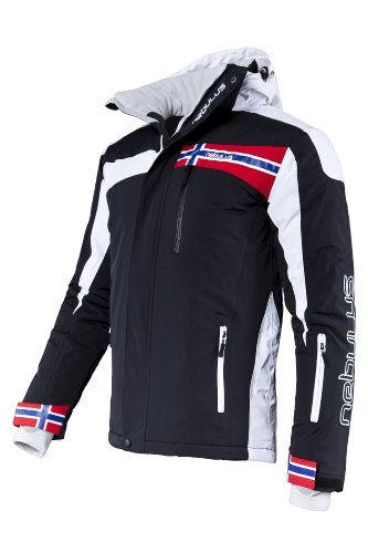 Nebulus Men's High End Platinum Freestyle Ski/Snowboard/Winter Jacket - Black, Medium