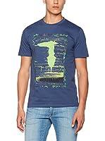 Trussardi Jeans Camiseta Manga Corta (Azul)