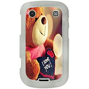 Casotec Teddy Bear Design 2D Printed Hard Back Case Cover for Blackberry Bold 9900 - Clear
