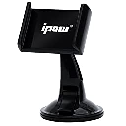 Car Mount, Ipow Universal 360 Degree Rotation Windshield Dashboard Suction Cup Car Mount Holder Cradle for iPhone 7 7 Plus 6s Plus 6s,Samsung Galaxy S7 Edge S6 S5 Note 7 5,Google Nexus,LG, Motorola