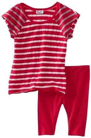 Splendid Littles Baby Girls' Stripe Mix Tunic And Legging Set, Azalea, 12 18 Months