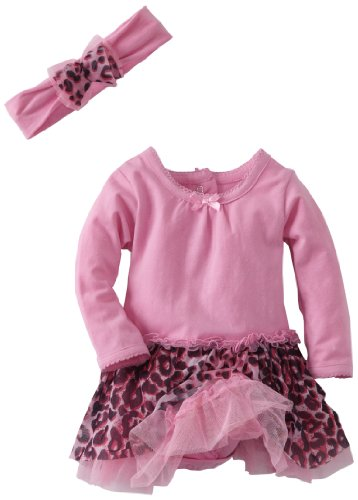 Vitamins Baby-Girls Newborn 2 Piece Tutu Bodysuit Dress Set, Pink, 3 Months