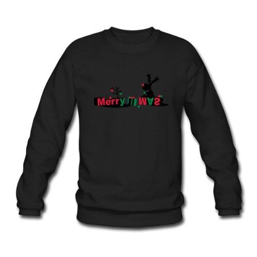 Spreadshirt, Rentier sitzt auf Buchstaben, Men's Sweatshirt, black, XXL