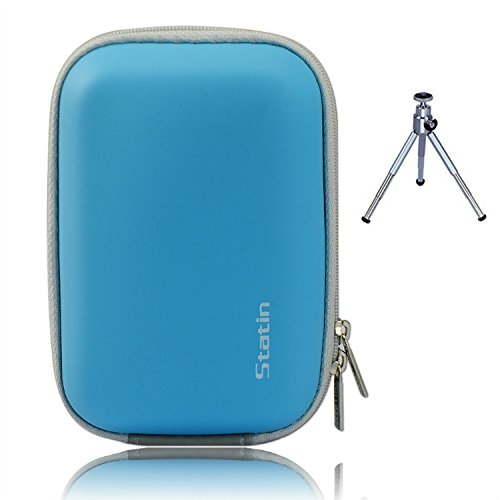 First2savvv BDX1003G6 blau Compact Anti-Schock-Kamera Tasche für SAMSUNG WB850F WB150F WB150 WB750 WB700 EX1 WB250F Nikon COOLPIX P310 P300 S9300 S9200 S9100 S8200 S1200pj S800c S30 AW100 L28 L27 OLYMPUS TG-820 VR-340 VR-360 TG-830 mit Mini-Stativ