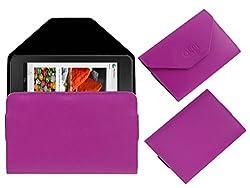 Acm Premium Pouch Case For Dell Venue Cellular 7 Flip Flap Cover Holder Pink