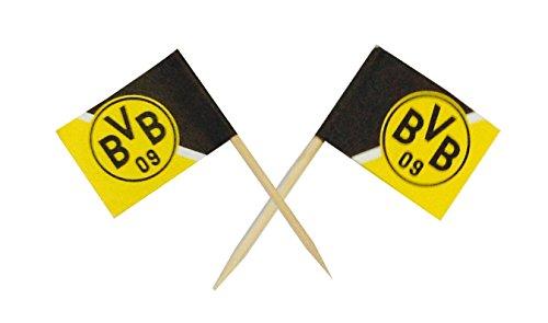 Borussia Dortmund Fan-Partypicker 50 Stück