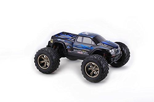 Teckey-RC-Auto-112-Off-Road-2WD-RC-ferngesteuerter-Monstertruck-Truggy-Fahrzeug-wasserdicht-Fertig-Montiert-24GHz-Digital-vollproportionale-Steuerung-Top-Speed-bis-zu-45-kmh-Komplett-Set-RTR-blau