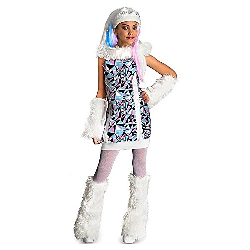 NEW Girls' Small Size Officially Licensed Monster High Abbey Bominable Costume