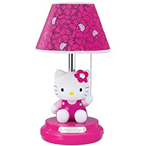 Hello kitty kt3095m sitting kitty table lamp 973j for Table exterieur hello kitty