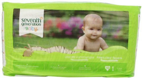 Seventh Generation Baby Care Stage 1 (8-14 lbs.) 40 count Diapers - 1
