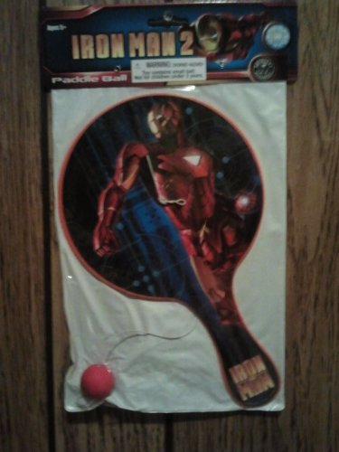 IRON MAN 2 SUPER SIZE PADDLE BALL - 1