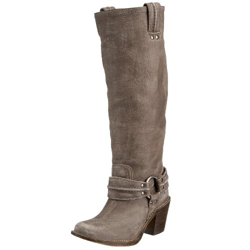 FRYE Women's Carmen Harness Tall Boot, Grey, 7 M US (Frye Carmen Harness Tall compare prices)
