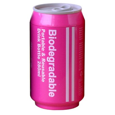 Biodegradable+バイオディグレーダブル+ポータブル+ドリンクボトル+[+ピンク+]