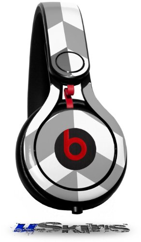 Chevrons Gray And Charcoal Decal Style Skin (Fits Genuine Beats Mixr Headphones - Headphones Not Included)