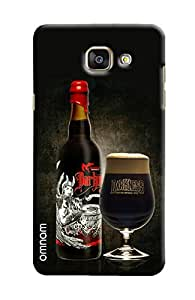 Omnam Wine Bottle With Glass With Quote Printed Designer Back Cover Case For Samsung Galaxy A5 2016 (A510)