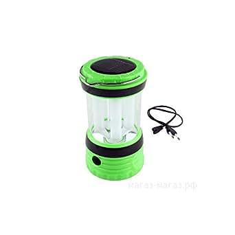 Kawachi Portable LED White Light Solar AC Powered Rechargeable Camping Lamp Lantern