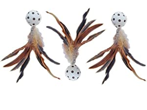 Feather Ball Cat Toy - 3 Pack