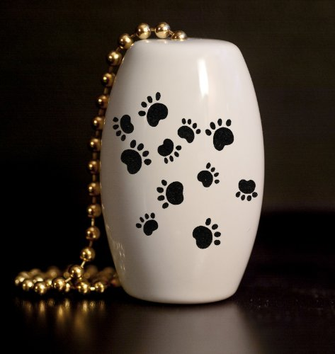 Paw Prints Porcelain Fan / Light Pull (Wildlife Fan Pull compare prices)