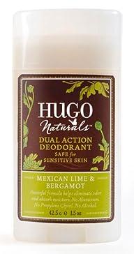 Deodorant – Mexican Lime & Bergamot Dual Action Hugo Naturals 1.5 oz Stick