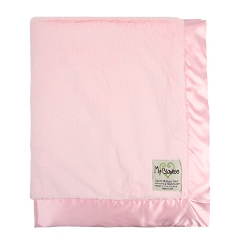 "My Blankee Luxe Baby Blanket, 30"" x 35"", Pink"
