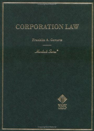 Corporation Law (Hornbook Series)