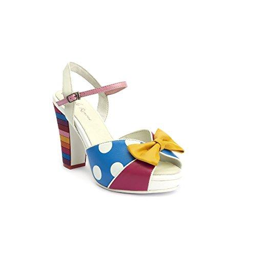 Lola Ramona Angie a pois piattaforma sandali, multicolore (Multi), 37 EU