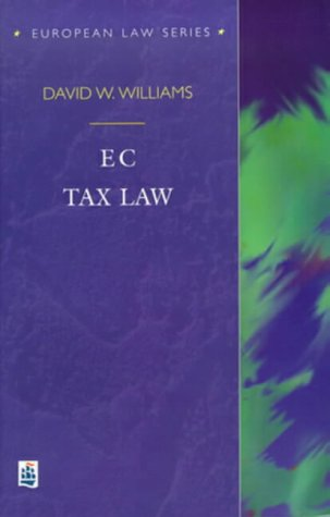EC Tax Law (European Law Series)