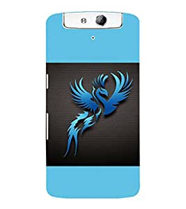 printtech Phoenix Simple Back Case Cover for Oppo N1